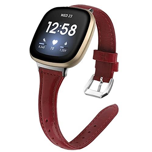 Gransho Piel Correa de Reloj Compatible con Fitbit Versa 3 / Fitbit Sense, Correa/Banda/Pulsera/Recambio/Reemplazo/Strap de Reloj (Pattern 2)