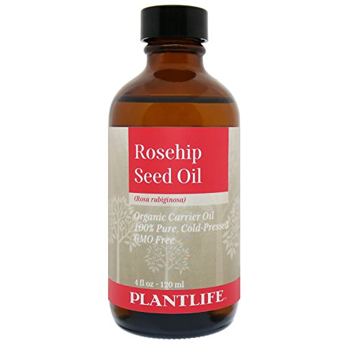 Plantlife Organic Rosehip Seed Carrier Oil 4 oz - 100% Pure Cold Pressed Base Oil for Aromatherapy