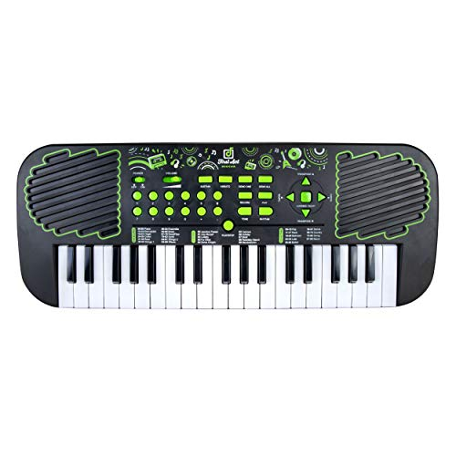 First Act Keyboard with Built-in Speakers, 21 Inch - 37 Keys, Mini Portable Piano – Musical Instrument for Kids and Teens