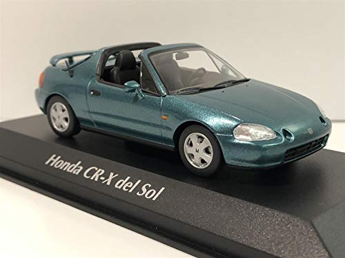 MAXICHAMPS kompatibel mit Honda CR-X del Sol Cabrio 1992 dunkelgrün metallic Modellauto 1:43