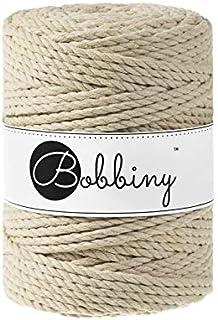 Bobbiny Ficelle à macramé Oeko-Tex Premium Coton Couleur Beige 5 mm x 100 m