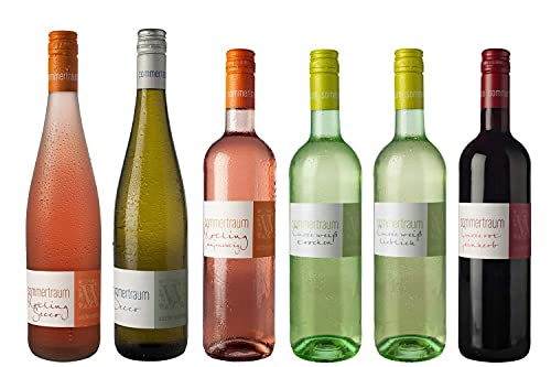 WEIN WISCHER Weinpaket Sommertraum Cuvées Secco Rotling Weißwein Rotwein (6 x 0,75l) Probierpaket