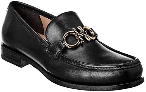 SALVATORE FERRAGAMO Men's Rolo Reversible Bit Loafers, Black, 10.5 Medium US