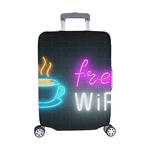 (Solo Cubrir) Neon Cafe Signboard Free WiFi Zone Trolley