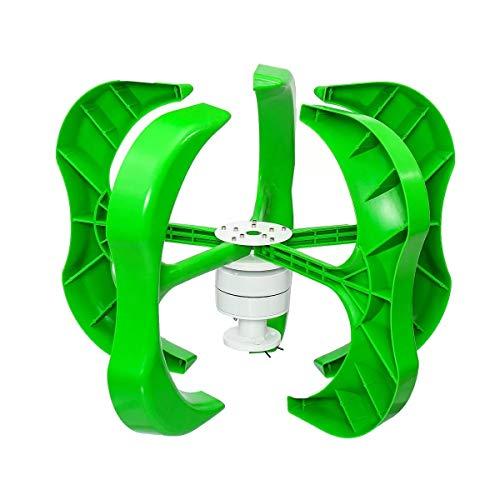 Yi Yi Ma Shi Pin Startseite Generator 5 Klingen 600W 12V / 24V / 48V Wind-Turbine-Generator-Vertikalachse mit Ladereglern Außen Generator (Größe : 48V)