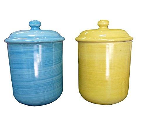 Stendhal Art.VT04 Barattoli Da Cucina Ceramica Di Vietri Dipinta a Mano