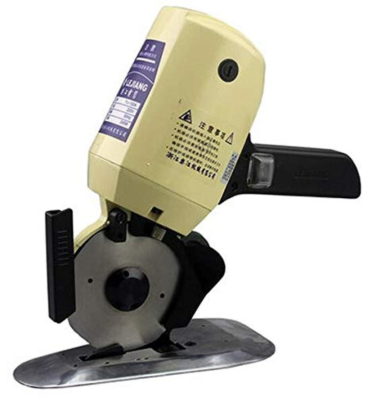 クラシカル攻撃的確立Hanchen YJ-100A 電動カッター 切断厚み25mm(0.98インチ) 手持ち式切断機 厚手の布/レザー/合皮/雑材などを切る用に Φ100mm替刃 (110V)