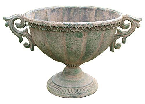 Küstenambiente Metall Amphore oval im antiken Landhausstil Blumentopf Pflanztopf Pflanzschale L
