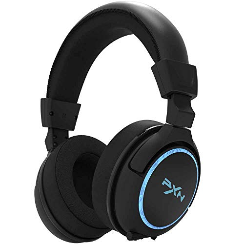 Noise Cancelling Over Ear Headphones with Mic for Xbox One PC Laptop Tablet,Blue LED Light GJWHENS Gaming Headset for PS4