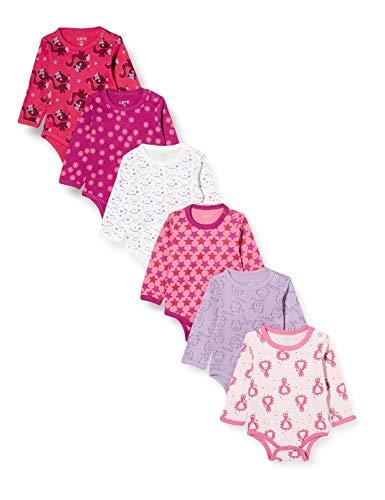 Care Baby - Mädchen Langarm-Body 6er Pack, Mehrfarbig (Rhapsody 481), Herstellergröße: 74