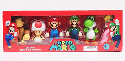 SET 4 PERSONAGGI SUPER MARIO BROS NEW COLLECTION YOSHI DONKEY /& FRIEND ITALIA