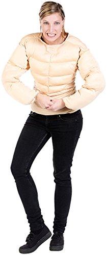 infactory Karneval-Kostüme Herren: Faschings- und Party-Kostüm Muskel-Shirt, Einheitsgröße (Herren-Kostüme für Fasching)