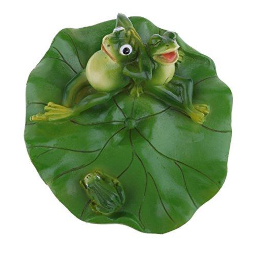 petsola Frosch Und Blatt Schwimmend Schwimmfrosch Teichdeko Miniteich Garten Teich - Familie
