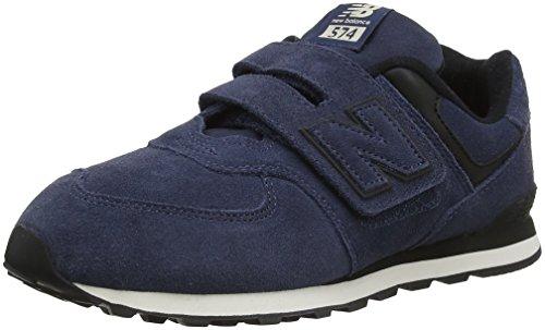 New Balance 574v2, Sneaker Unisex-Bambini, Blu (Royal/Black Er), 28.5 EU