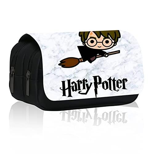 Hilloly Harry Potter Estuche para Lápices Mago Estuche para lápices para estudiantes Estuche para lápices de gran capacidad para artículos escolares y de oficina