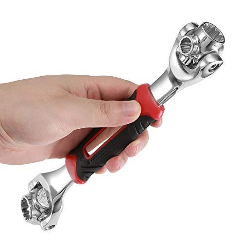 Konesky - Llave de vaso multifunción con 8 herramientas en una llave de tigre que funciona con pernos de spline Torx métrico