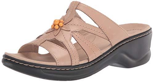 Clarks Women's Lexi Myrtle 2 Sandal, Sand Leather, 85 M US