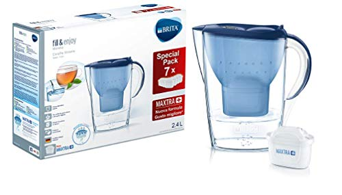 BRITA Marella (Filtro de Agua para Jarra, Azul, Transparente, 2,4 L, plastico, 1,4 L), 7