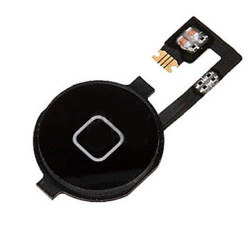 negro Boton Home button Pulsador con Adhesivo para iPhone 4 4G -homebutton