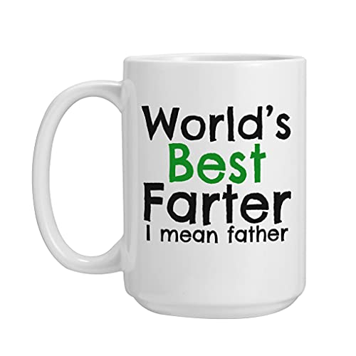 Dad Mug, World's Best Dad Fun Ceramic Coffee/Tea/Cocoa Mug Creative Gift...