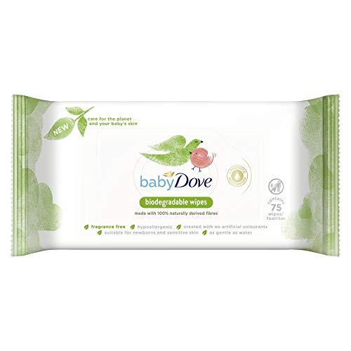 Baby Dove Hygienetücher, biologisch abbaubar, 75 Stück