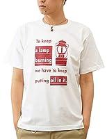 (ジーンズバグ)JEANSBUG LANTERN オリジナル アウトドア ランタン プリント 半袖 Tシャツ メンズ レディース 大きいサイズ ST-LANT M シロ×ワイン(11)