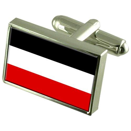 Select Gifts Reich alte Militairy Deutschland Fahne Manschettenknöpfe graviert Box