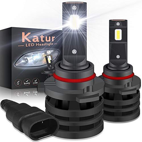 KATUR 9005 HB3 Led Bombillas para Faros Delanteros Diseño Mini Chips CREE mejorados 12000 LM Kit de conversión LED Todo en uno a Prueba de Agua 55W 6500K Xenón Blanco-2 años de garantía