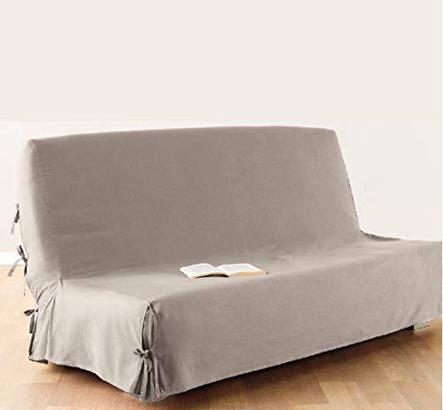 Atmosphera Funda de sofá Cama Clic-clac - 100% algodón - Color Lino