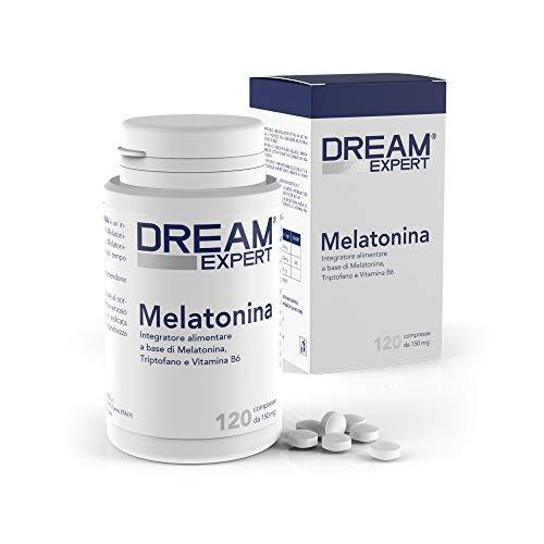 Dulàc - Melatonina - 120 cpr - Melatonina (1mg) + Triptofano (75 mg) e Vitamina B6 (1,4 mg) - AZIONE RAPIDA - Notificato al Ministero della Salute Italiano - Dream Expert