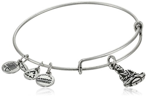Alex and Ani 'Bangle Bar' Buddha Rafaelian Silver-Tone Expandable Wire Bangle Bracelet