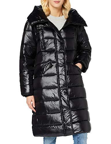 Superdry Womens HIGH Shine Duvet Coat Jacket, Black, XS (Herstellergröße:8)