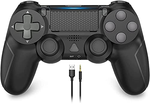Game Controller for PS-4, YCCSKY 1000mAh Wireless Controller for PS-4/ PS-4 Slim/PS-4 Pro Console with Share Button/Ergonomic Design/Vibration Function (Black)