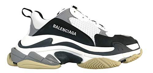 Balenciaga Luxury Fashion 536737W09OM9072 - Zapatillas de piel para hombre, color blanco, color Blanco, talla 39 EU