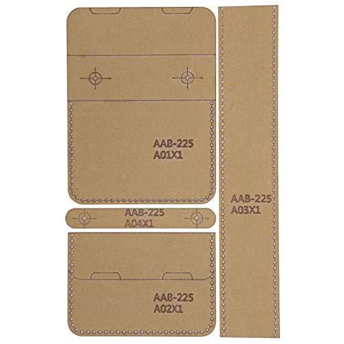 4 Stück Acryl Vorlage Set, DIY Acryl Münzgeldbörse Brieftasche Schablone Vorlage Brieftasche Muster Acryl, DIY Acryl Leder Bastelvorlage DIY Tool