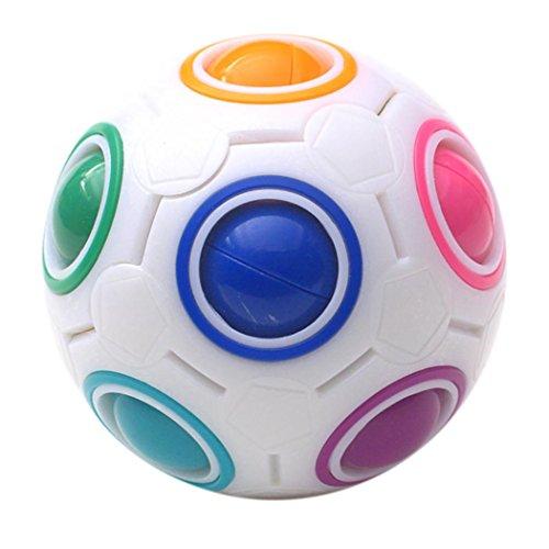 squarex Leuchtwürfel zum Stressabbau, magischer Regenbogenball, lustiger Würfel, Lernspielzeug für Kinder und Erwachsene