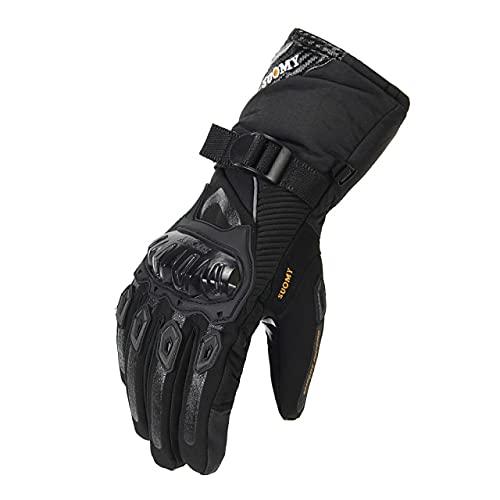 Guantes de Moto de Verano Transpirables Gant Moto de Malla para Hombre Guantes de Moto de Dedo Completo Guantes de Pantalla táctil Guantes de Montar en Moto-a96-XXL