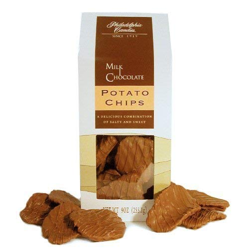 Philadelphia Candies Original Potato Chips, Milk Chocolate Covered 9 Ounce Gift Bag
