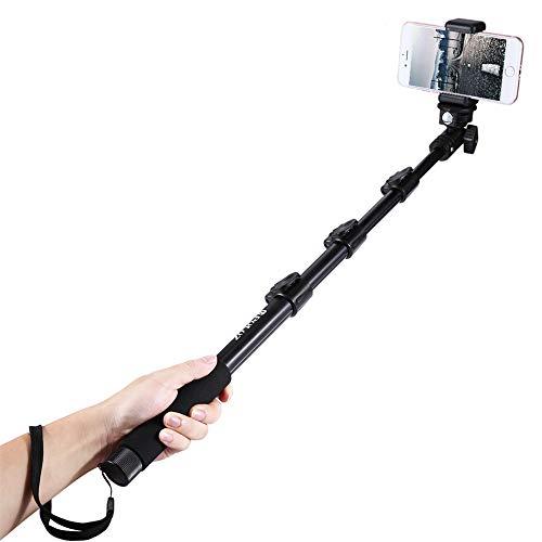 YAOKXIN Estendibile palmare Regolabile Selfie Stick monoPiede per GoPro Nuovo eroe/HERO6/5/5 sessione/4 Session/4/3 +/3/2/1 e Smartphone, Lunghezza: 40-120 cm