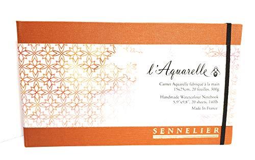 Bloc de Acuarela Sennelier fabricado a mano. Carnet Aquarelle fabriqué á la main, Handmade Watercolour Notebook