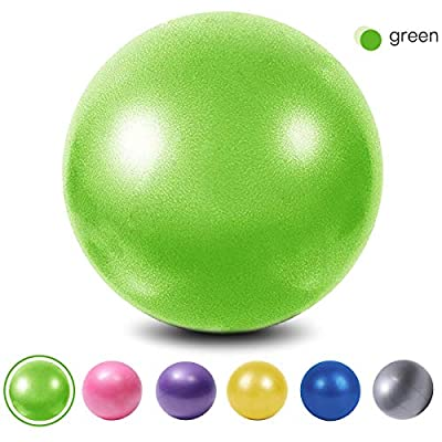 XIECCX Mini Yoga Balls 9 Exercise Ball Pilates Ball Therapy Ball Balance Ball Bender Ball Barre Equipment for Home Stability Squishy Training PhysicalCore Training with Inflatable Straw Green