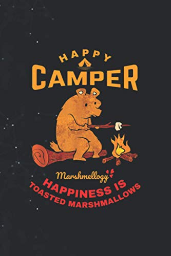 Happy Camper Cool California Bear Toast Marshmallows 114 Pages 6''x9'' in Journal lined Notebook