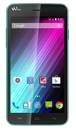 Wiko Lenny Dual-SIM Smartphone (5 Zoll (12,7 cm) Touch-Display, 4 GB Speicher, Android 4.4) türkis