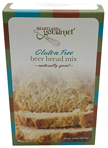 Heartland Gourmet Gluten Free Beer Bread Mix - Buttery and Chewy- Certified Gluten Free Ingredients - All Purpose - Safe for Celiac Diet
