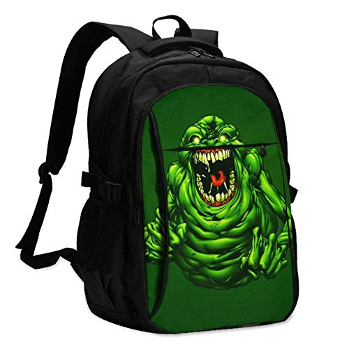 Ghostbusters Laptop Backpack Anti Theft Water Resistant Durable Computer Bag USB Charging Port Fits 15.6 Inch Laptop and Notebook College School Business Travel