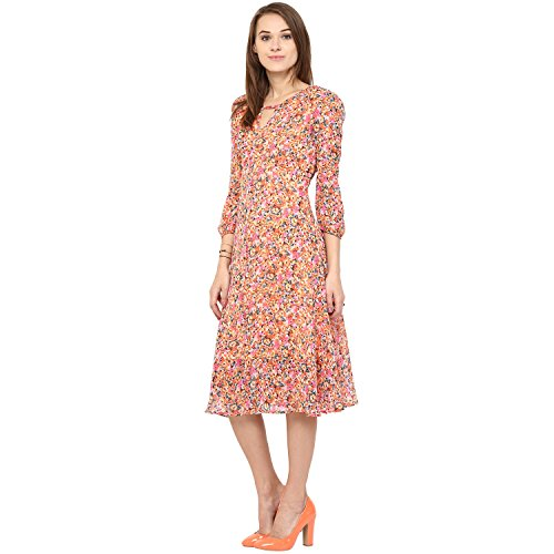 Harpa Women's Synthetic A-Line Midi Dress