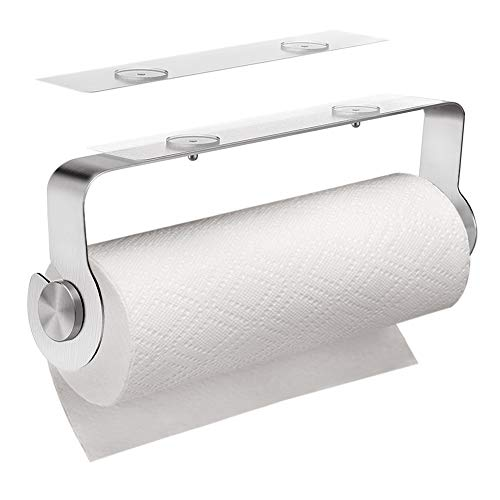 Carry360 Adhesive Paper Towel Holder Under Cabinet Stick on Paper Towel Rack for Kitchen,Bathroom,Toilet, Drill Free, 304 SUS Stainless Steel