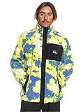 Quiksilver Mens Originals - Zip-Up Polar Fleece Jacket for Men Zip-Up Polar Fleece Jacket Yellow M