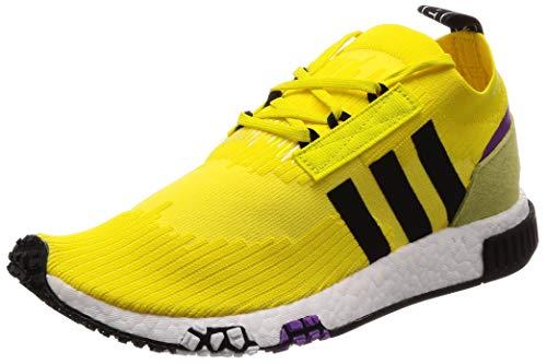 adidas Herren NMD_Racer Pk Derbys, Mehrfarbig (Yellow SYELLO/Cblack/Shopur), 44 EU