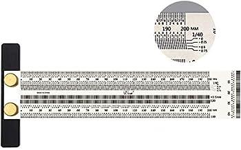 200mm Hoge Precisie T Vierkante Liniaal voor Houtbewerking Markering Roestvrij Scribing Lijn Regel Carpenter Vierkante Mee...